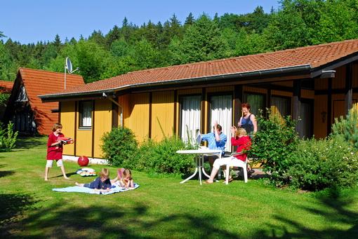 Familie im Ferienpark