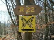 Schild Wanderweg 22 - Schmetterlingswanderweg
